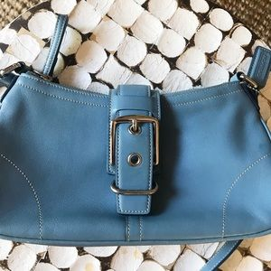 Coach Bags - Coach purse Blue leather